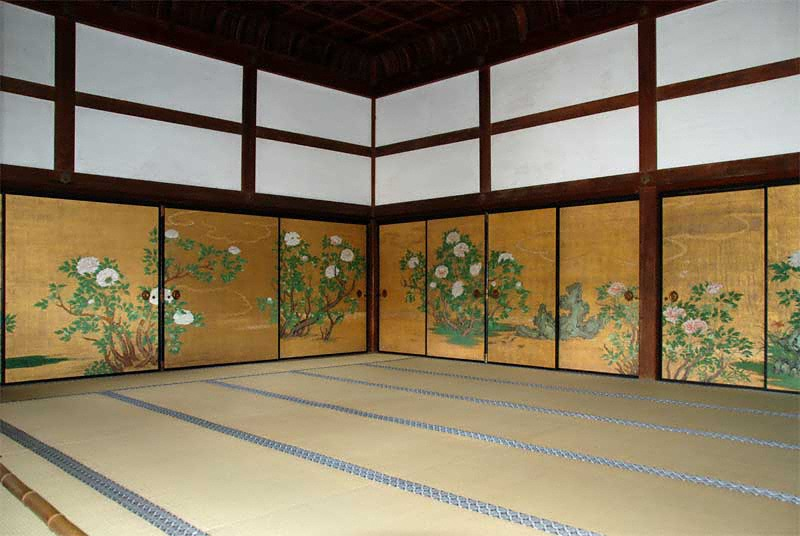 """""""Botan-no-Ma"""" or """"Peony room"""" in the Shinden building of ..."""