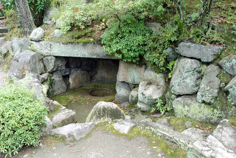 manmade cave of Shoseien, Kyoto