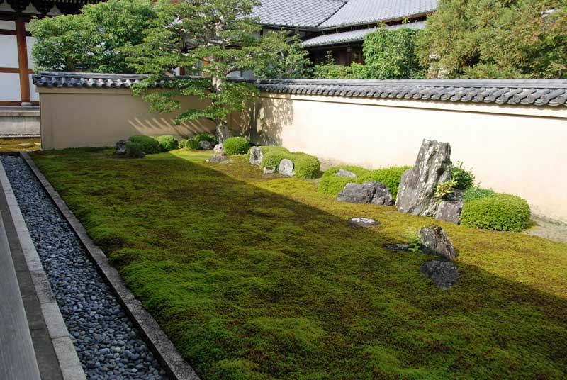 Karesansui garden called ryugintei ryogen in kyoto japan for Jardin zen japonais