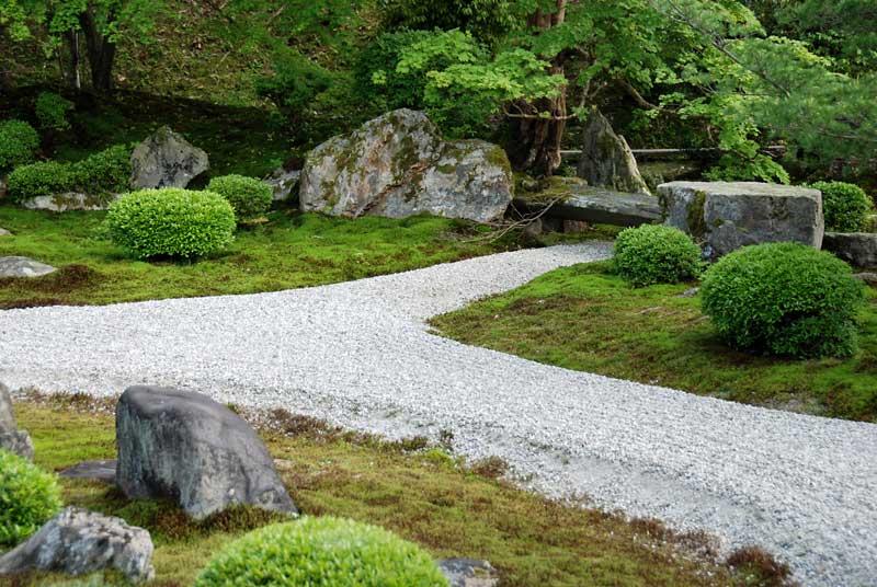 Karesansui garden of Manshu-in in Ichijo-ji/Shugaku-in ...